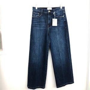 Frame Ali Wide Crop Denim Jeans NWT